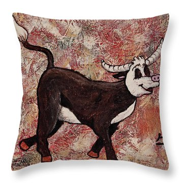 Year Of The Ox Throw Pillow by Darice Machel McGuire