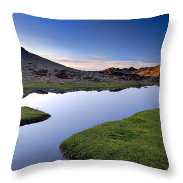 Yeguas Lake At Sunset Throw Pillow by Guido Montanes Castillo