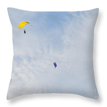Yellow And Blue Mix Up Throw Pillow
