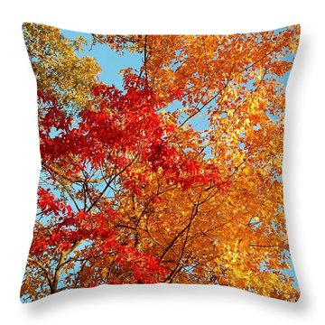 Yellow And Red Throw Pillow by Patrick Shupert