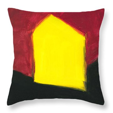 Yellow Arthouse Throw Pillow