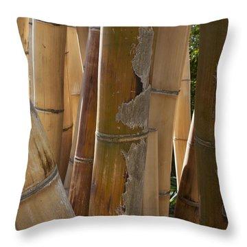 Yellow Bamboo Throw Pillow