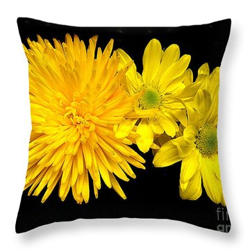 Throw Pillow featuring the photograph Yellow Beauties by Merton Allen