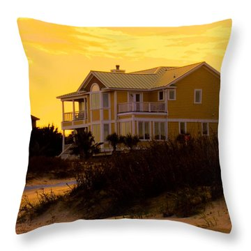 Yellow Beauty At Isle Of Palms Throw Pillow by Kendall Kessler
