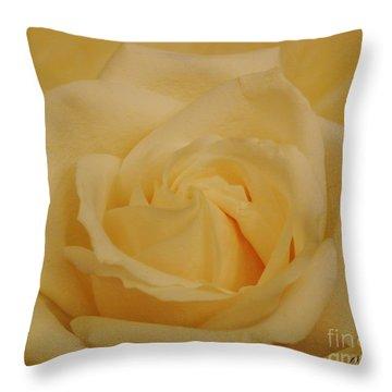 Yellow Beauty Rose Throw Pillow