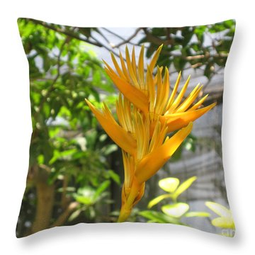 Yellow Bird Of Paradise Throw Pillow