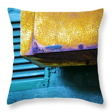 Yellow-blue Abstract Throw Pillow