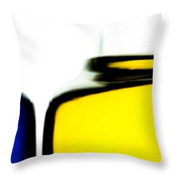 Yellow Blue Throw Pillow by Bob Orsillo