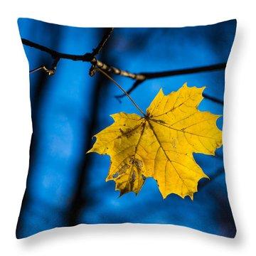 Yellow Blues - Featured 3 Throw Pillow by Alexander Senin