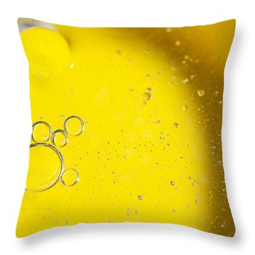 Yellow Bubbles Throw Pillow