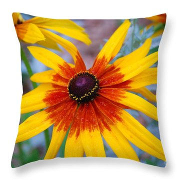 Throw Pillow featuring the photograph Yellow Burst by Allen Beatty