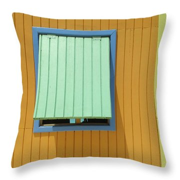 Yellow Cabin Throw Pillow by Randall Weidner