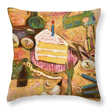 Yellow Cake Recipe Throw Pillow