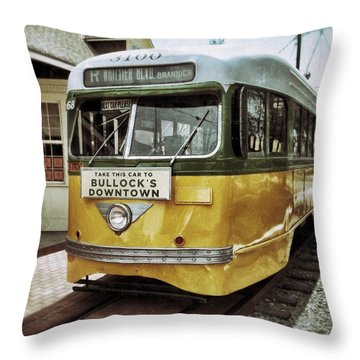 Yellow Car - Los Angeles Throw Pillow