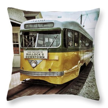 Yellow Car - Los Angeles Throw Pillow by Glenn McCarthy Art and Photography