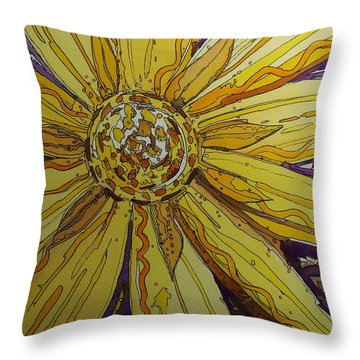 Yellow Chakra Throw Pillow by Terry Holliday