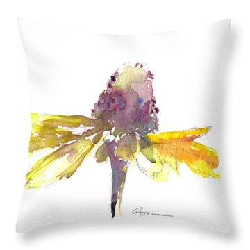 Yellow Coneflower 2 Throw Pillow