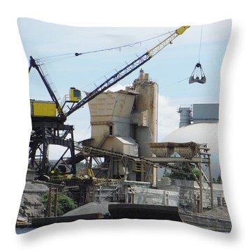 Yellow Crane Throw Pillow