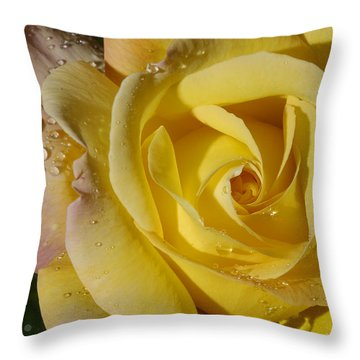 Yellow Crisp Throw Pillow