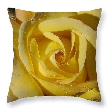 Yellow Crisp Throw Pillow