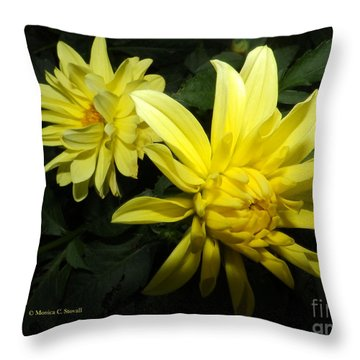 Yellow Dahlia's Opening Collection No. Y87 Throw Pillow