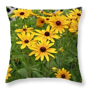 Yellow Daisy Flowers #2 Throw Pillow