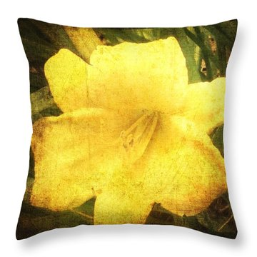 Yellow Daylily  Throw Pillow