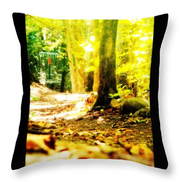 Yellow Discin Day Throw Pillow
