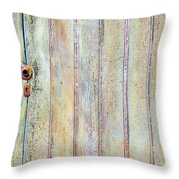 Yellow Door Throw Pillow by Asha Carolyn Young