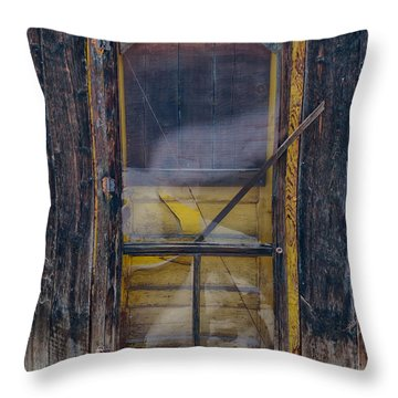 Yellow Door Throw Pillow
