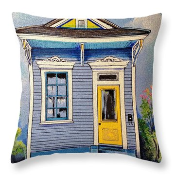 Yellow Door Shotgun  Throw Pillow