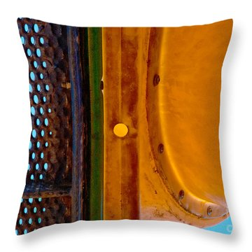 Throw Pillow featuring the photograph Yellow Dot by Lena Wilhite