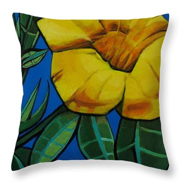 Yellow Elder - Flower Botanical Throw Pillow