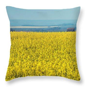 Yellow Field Throw Pillow by Svetlana Sewell