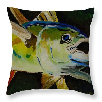Yellow Fin Tuna Throw Pillow