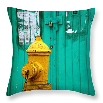 Yellow Fire Hydrant Throw Pillow