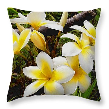 Yellow Flowers 1 Throw Pillow