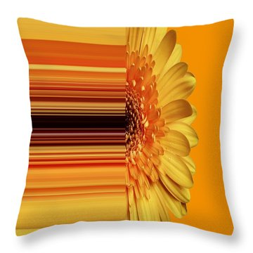 Yellow Gold Throw Pillow