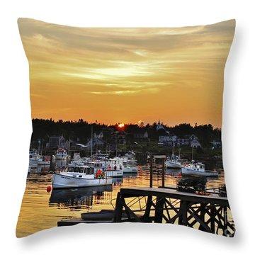 Yellow Harbor Throw Pillow