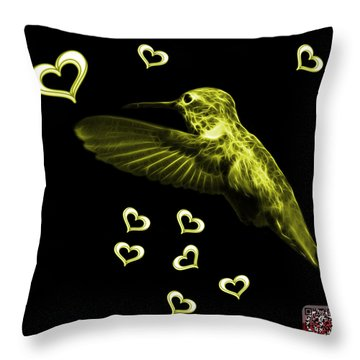 Yellow Hummingbird - 2055 F M Throw Pillow