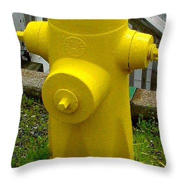 Yellow Hydrant Throw Pillow
