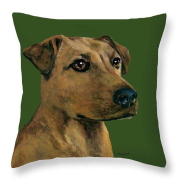 Yellow Lab Mix Throw Pillow
