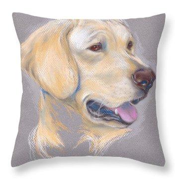 Yellow Labrador Retriever Portrait Throw Pillow
