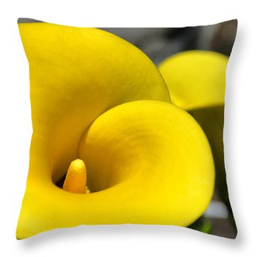 Yellow Lily Throw Pillow