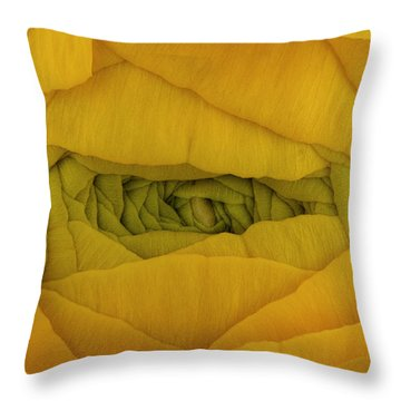 Yellow Throw Pillow by Mark Johnson