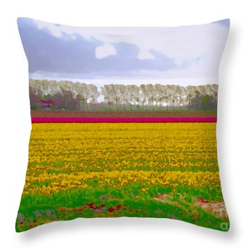 Throw Pillow featuring the photograph Yellow Meadow by Luc Van de Steeg