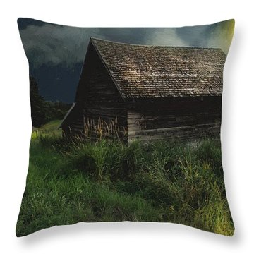Yellow Moon On The Rise Throw Pillow