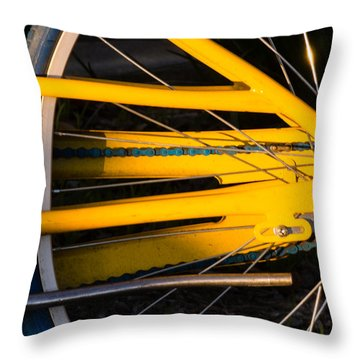 Yellow Motion Throw Pillow