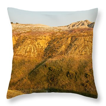 Yellow Mounds Overlook Badlands National Park Throw Pillow