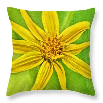 Yellow Mountain Bloom Throw Pillow